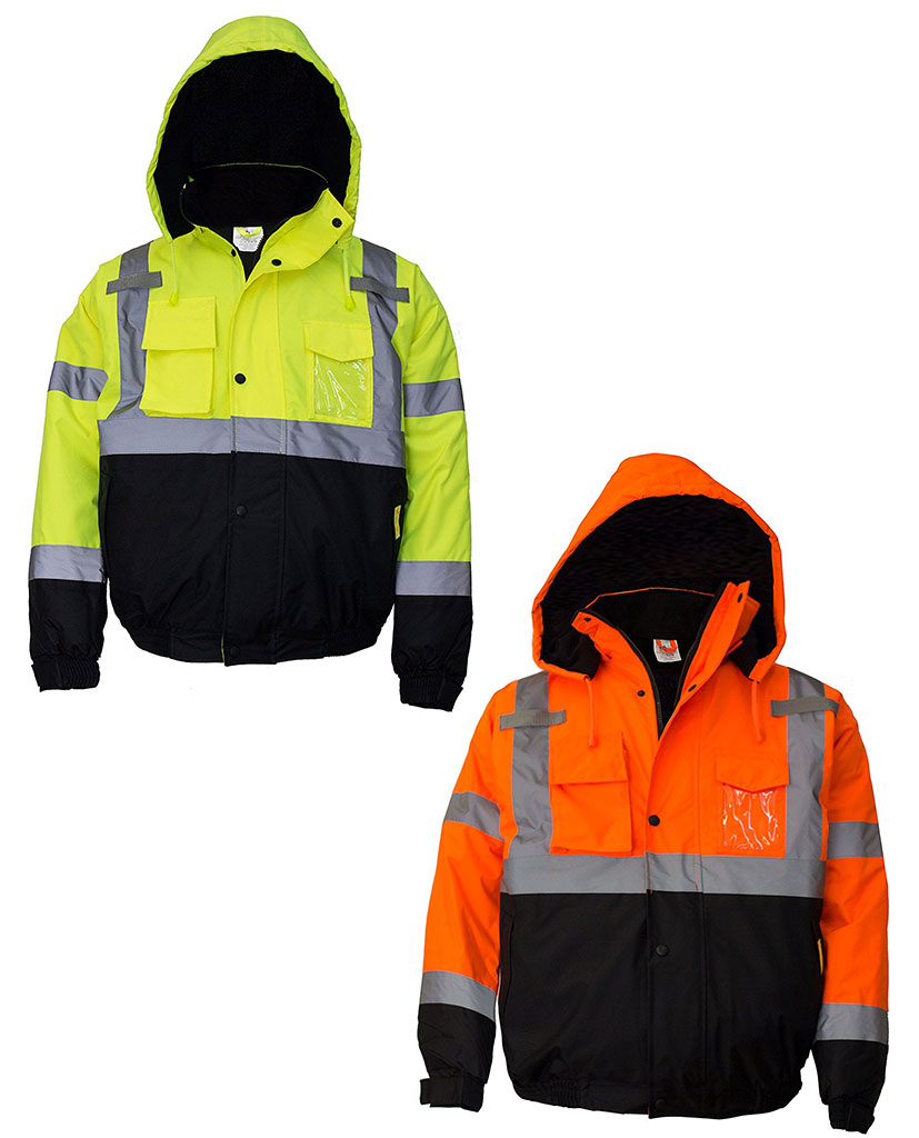 Men S Ansi Class 3 High Visibility Bomber Safety Jacket