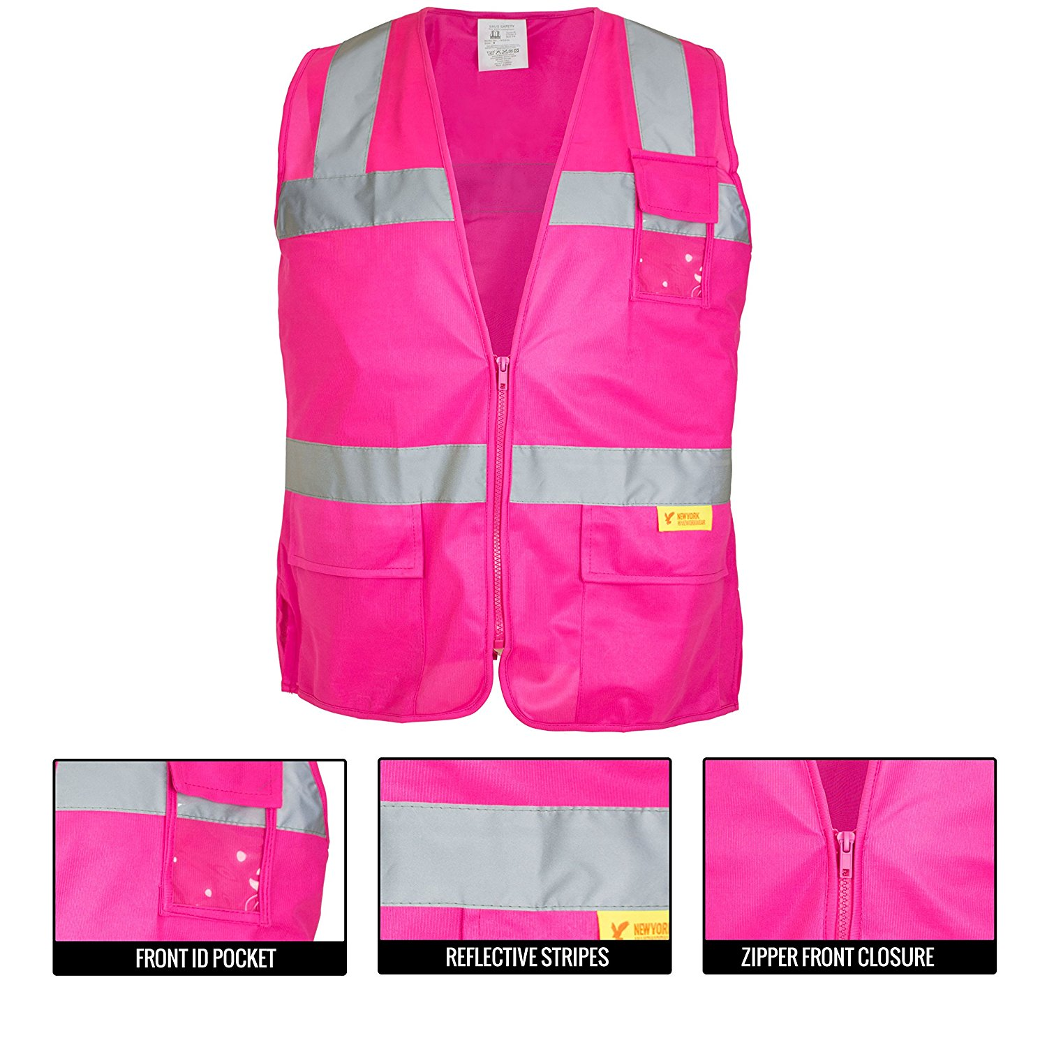 Ansi Isea Class 2 Certified Female Safety Vest Pink Rk