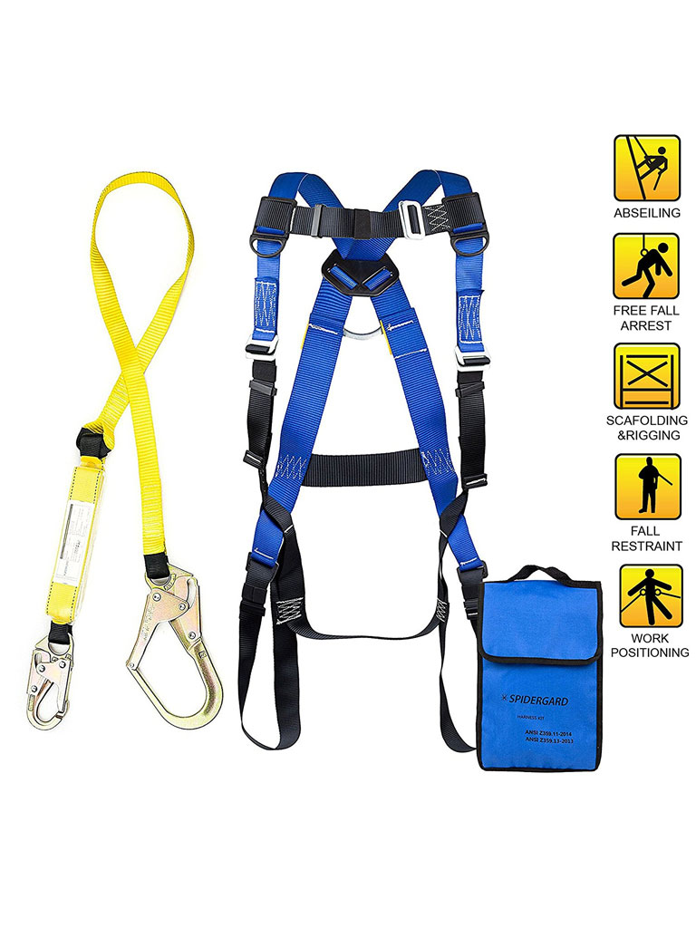 safety harness hook up Anchor slings used as a choker for fall protection work site applications we stock a wide variety of cable slings and cross arm straps for a fall arrest anchor point.